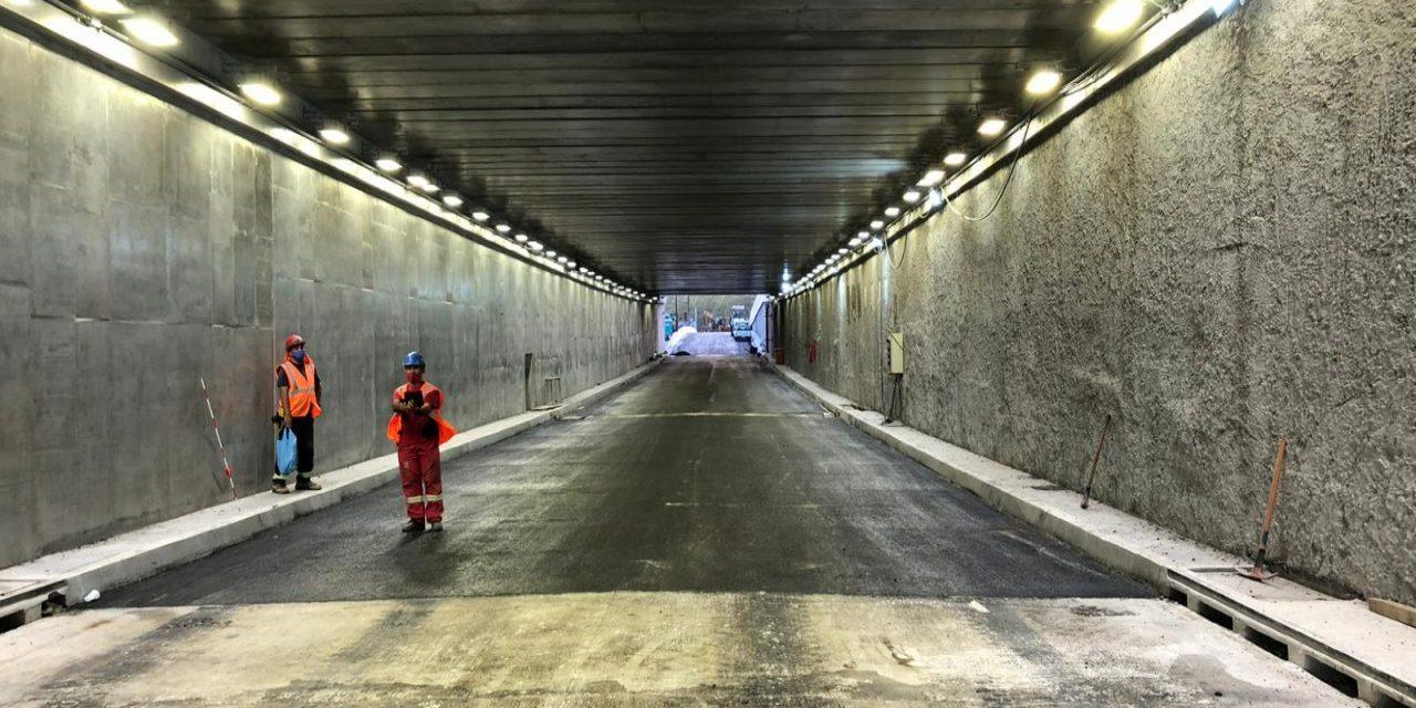 Se habilitó la circulación del túnel de Avenida Italia y Centenario en la senda hacia el Centro