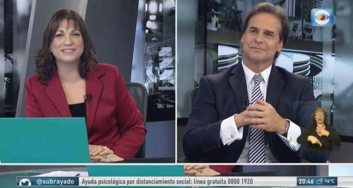 Los 5 momentos más picantes entre Blanca Rodríguez y Lacalle Pou y el rating de Subrayado en ese momento