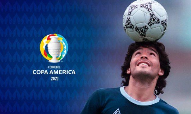 Recuerdo a Diego Maradona en Río de Janeiro
