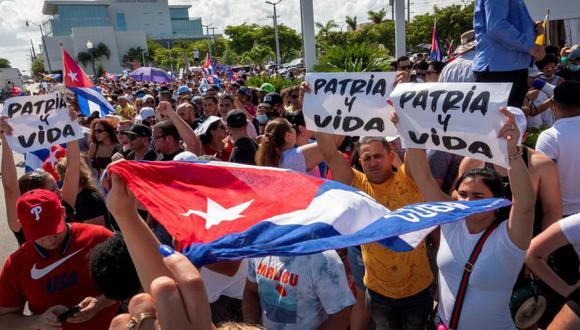 La reacción de los cubanos en Miami contra Miguel Díaz-Canel