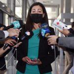 Lacalle se reunió con la opositora del gobierno de Cuba Rosa María Payá en Torre Ejecutiva